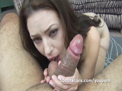 woman sarah shevon slobbers on dick and gets