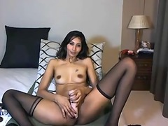 indian prettiness gang-bangs a plastic cock on