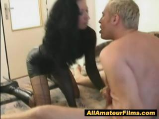 woman role pleasing with her fucker