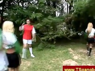 trannies playing ballgame