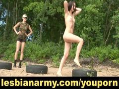 military lesbian training