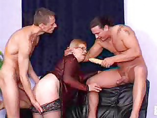 fiery redheaded granny babes get on super bunch