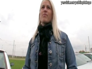 czech chick packed in a public toilet