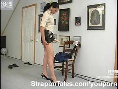 angel boss strapon banging a male