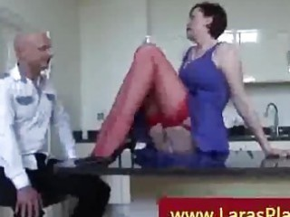 facesitting by brunette with red nylons