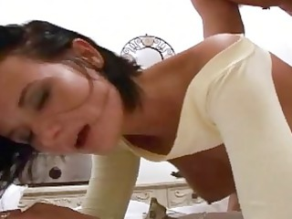good looking brunette hairdresser roughly fucked