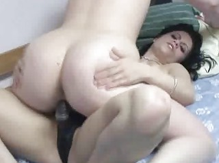 Blonde Veronica fucking a MILF with her strapon