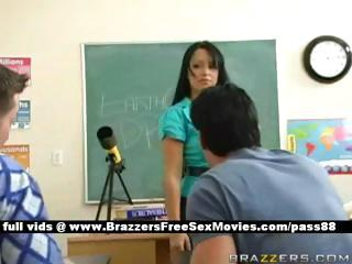 horny brunette lecturer at university going