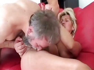 horny granny driving her lovers happy old penis