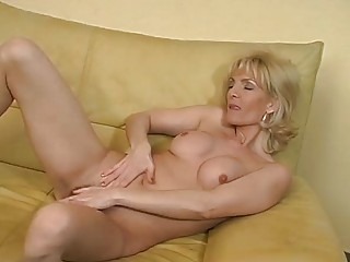 cougar bleached pleases with herself