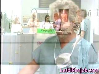 slutty dike nurses arse rimming free part4