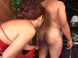 desperate three people with bitches with a strap