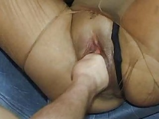 horny whore hand gangbanged inside her loose