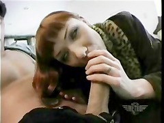 red-haired blowjob,asslick,ball lick, swallow