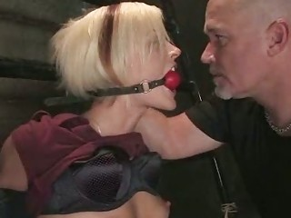 pale angel with attractive bossom obtains spanked