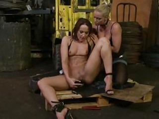 slave babe with little bossom takes dominated by