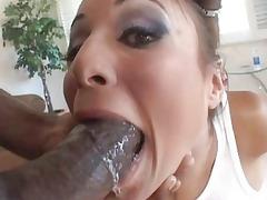 super girl gagging on huge ebony libido