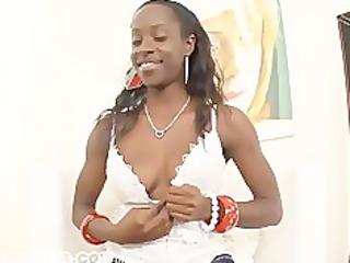 ebony babe obtains a facial