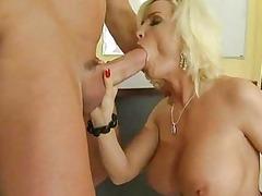 platinum blonde woman dick sucking bitches