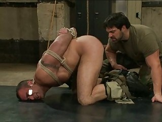 stiff army gay fucker had bondaged and abused