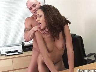 hot busty interviewee licks hunk interviewer