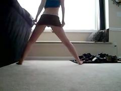 inexperienced shaking her anal dancing