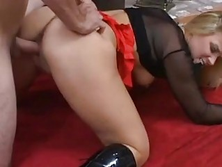 heavy bleached bitch inside dark galoshes does