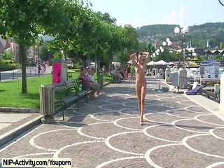 spectacular open-air nudity with charming alena
