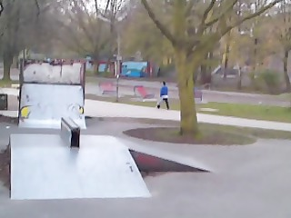 public skatepark - broad daylight - nearly caught