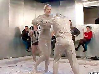 two desperate mud fighting euro sluts love part3