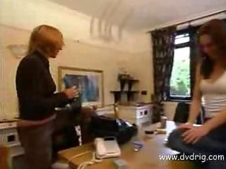 english girl learn to drill watching fuck tapes
