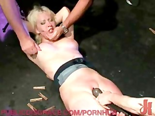 beautiful blondie obtains humiliated and stuffed