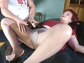 lewd milf with nylon tights fat under pantyhose