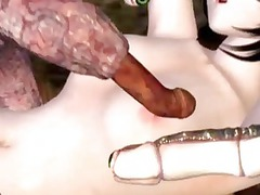 3d hentai hotty caught and pierced all cave by