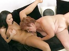 young fuck maniac with her granny maid