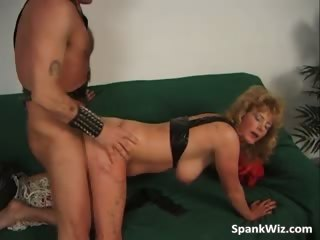 horny woman acquires her anal spanked part5