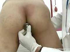 cute nurse fingering ass