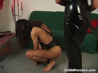 cruel horny housewife whip man back part6