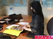 French Amateur Gril Fisting Herself At Office