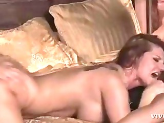 stud takes bleached and red-haired momma for