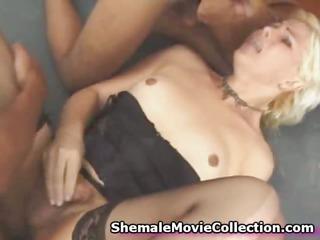 shemale jizz shots compilation!