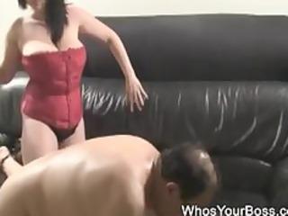 elderly boy acquiring tortured by a busty femdom