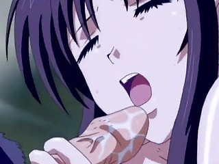 anime girl doing dick sucking and swallow cum
