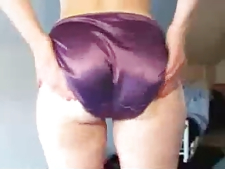 arse of a lady of mine inside purple satin brief