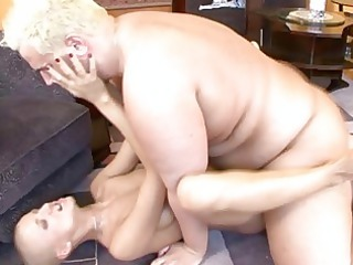 bald lady with sweet chest gets her nookie