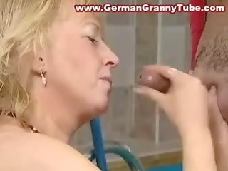 huge boobed blonde old granny fucked uneasy  in