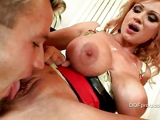 cougar slut with massive boobs acquires her
