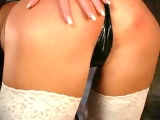 enormously hawt girl pleasing inside shiny pvc
