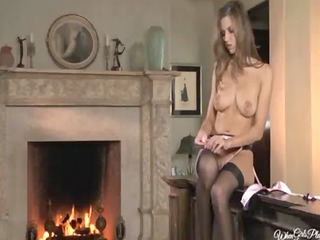 ultra slutty g-string and pussy eating