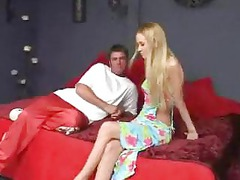 fresh blonde obtains feet lickedsucks cock and